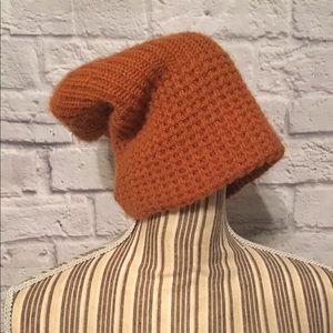 🌿Slouchy Rust Knit Beanie Hat